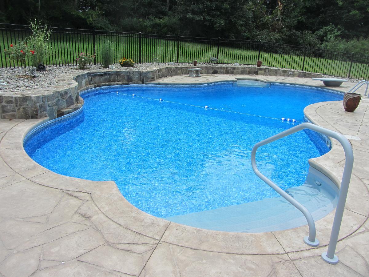 Custom pools inground above ground pools in danbury for Custom made above ground pools